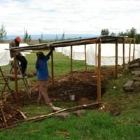Das Camp wird ausgebaut