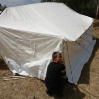 Das Flüchtlingslager entsteht