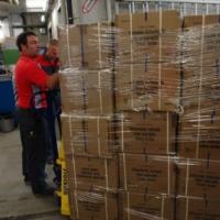 Verladen des Containers